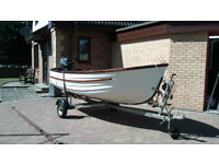 boat fishing sailing 13ft