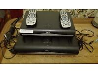 2 sky HD box, remote control, power cable and Tv cable. very good condition.£35