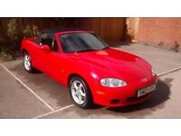 Mazda MX5 convertible. Excellent condition with great mileage. 10 months MOT!