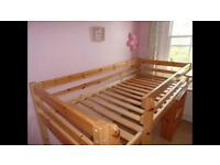 Pine midi sleeper with mattress