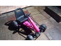Girls pink gocart for sale