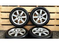 """Genuine 16"""" SEAT LEON ALLOYS AND TYRES GOLF A3 VW AUDI"""
