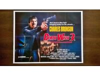 death wish 3 ' original 1980s cinema poster