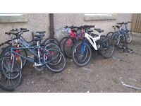 ADULT USED MOUNTAIN BIKE CLEARANCE SALE ALL £40 each SEE ALL PIC can deliver