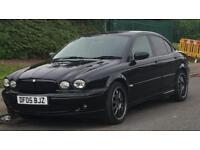 "Jaguar x type diesel black with 18"" alloys , sat nav DVD"