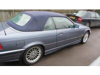 E36 323i 1998 Convertible for spares or repair FSH