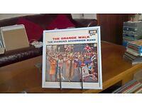 The Orange Walk..vinyl record in white frame..33rpm..