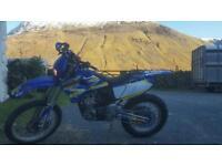Yamaha wr250f road legal motocross
