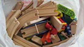 Wooden car/train set