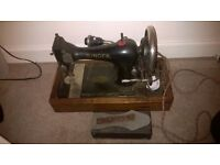 Singer Sewing machine antique 1908 with electric motor