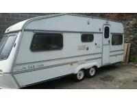 4 berth twin wheel caravan