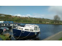 STEEL BOAT CRUISER FOR SALE 23ft - AS NEW MARINER 20HP ENGINE (30HRS USE)