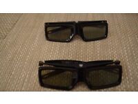 2x Genuine Sony Glasses TDG-BT400A 3D Never been used