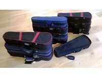 A Job Lot of 11 Stringers Violin Cases in working condition