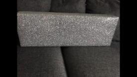Silver glitter Pelmet