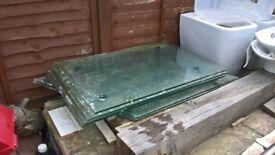 stainless steel balastrade & glass