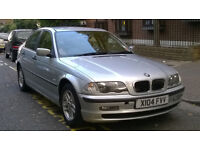 BMW 318i SE AUTOMATIC 2000 X REG MET SILVER 4 DOOR SALOON PAS A/C 140K NO MOT HENCE CHEAP PRICE