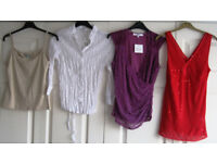 Ladies Tops, sizes 12, 14 and 20, £1.25 - £2 each, some NEW