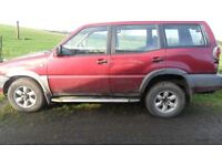 nissan terrano parts from 5 jeeps all 2.7 diesel red green blue