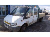 FORD TRANSIT 350 LWB TD 2.4L CREW CAB DROPSIDE