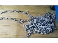 Decorative galvanised garden chain