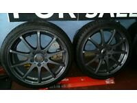 "17"" 5 stud German fitment alloys & mint tyres"