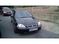 Honda civic coupe black, 1.6 auto, tinted windows, cd player, alloy wheels, electric windows