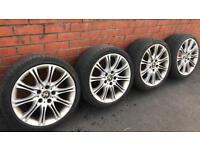 """Genuine BMW M-Sport 18"""" MV2 Alloy Wheels And Tyres Staggered"""