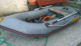 Boat forsale tender rubber dinghy about 8 ft approx ideal to put on car roof rack