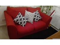 Red double/two seater sofa bed