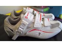 Scott road Pro lady road cycling shoes SIZE 38/5 Brand New white gloss