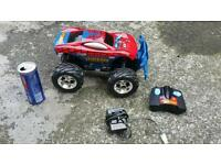 Spiderman radio control monster truck kids toy