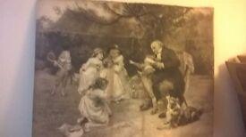 """FREDERICK MORGAN 1847-1927 PRINT 27x21"""" SIGNED GLUSBURN BD20 8DW,W.YORKS SUTTON,CROSSHILLS,KEIGHLEY"""