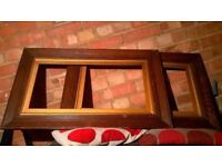 Pair of old solid wood picture frames excellent central London bargain