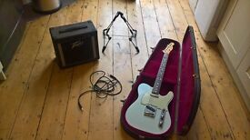 Telecaster Electric Guitar and Amp