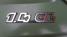 Volkswagen VW 1.4 CL Chrome OEM Original Badge
