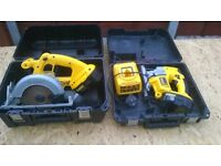 Dewalt DC390 circular saw & DW933 jigsaw