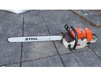 Stihl 084av chainsaw, 122cc, new bar, spare bits, see video...