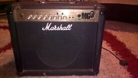 Marshall MG 30FX amp including foot controller w/ built-in tuner and cables