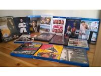 15 blu-ray DVDs of recent films, used once