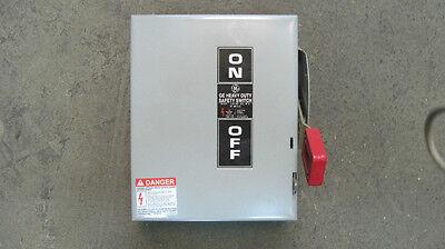 New Ge Gen Duty Safety Switch Disconnect 30 Amp 600 Volt Thn3361 Indoor