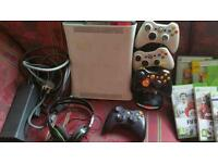 Xbox 360 with games headphones etc