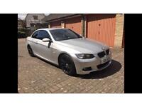 BMW 330d CONVERTIBLE RED LEATHER SEATS