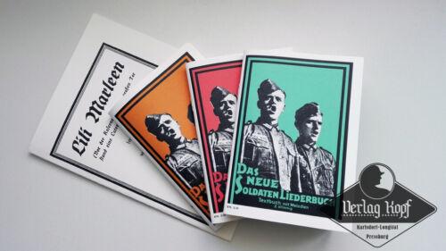 WX WH LW Popular Complete set of Soldaten Liederbuch