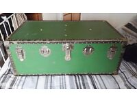 Vintage green trunk 1940s