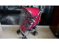 MAMAS AND PAPAS PULSE PUSHCHAIR WITH RAIN COVER IDEAL HOLIDAYS ECT