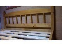 Quality wooden double bed frame