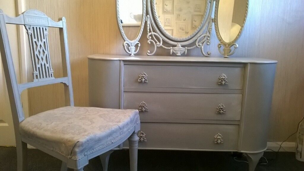 Ornate Dresser And Antique Chair In Hartlepool County Durham