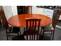 Extending Dining Table & 6 Chairs - VGC