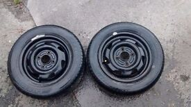 2 brand new ford ka/fiesta tyres